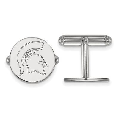 Michigan State Spartans Sterling Silver Cufflinks