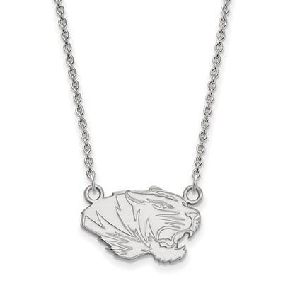 Missouri Tigers Mascot Silver Pendant Necklace