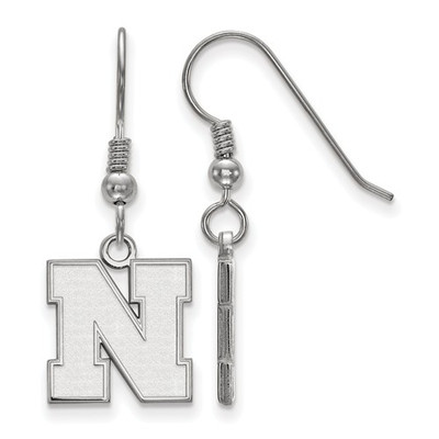 Nebraska Huskers N Sterling Silver Dangle Earrings