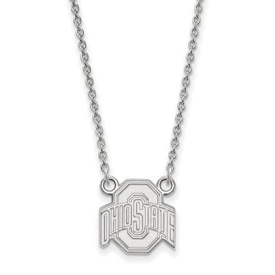 Ohio State Buckeyes Sterling Silver Pendant Necklace
