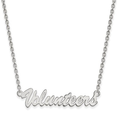 Tennessee Volunteers Script Sterling Silver Necklace