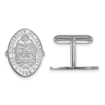 Tennessee Crest Volunteers Sterling Silver Cufflinks