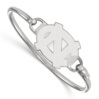 UNC Tar Heels Sterling Silver Bangle Bracelet | Logo Art | SS018UNC-7