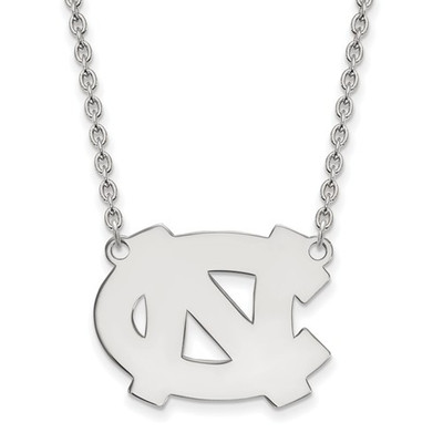 UNC Tar Heels Sterling Silver Pendant Necklace