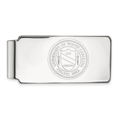 UNC Crest Sterling Silver Tar Heels Money Clip