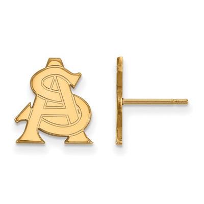 Arizona State AS Sun Devils 14K Gold Post Earrings