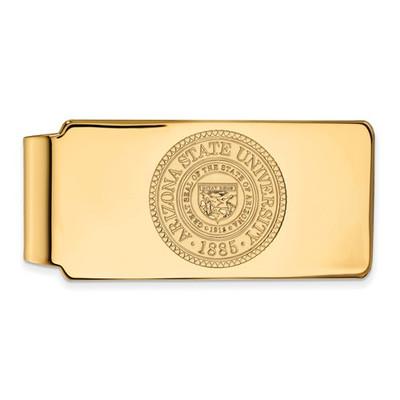 Arizona State Crest Sun Devils 14K Gold Money Clip