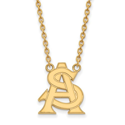 Arizona State AS Sun Devils 14K Gold Pendant Necklace