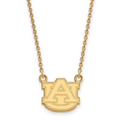 Auburn Tigers AU 14K Gold Pendant Necklace