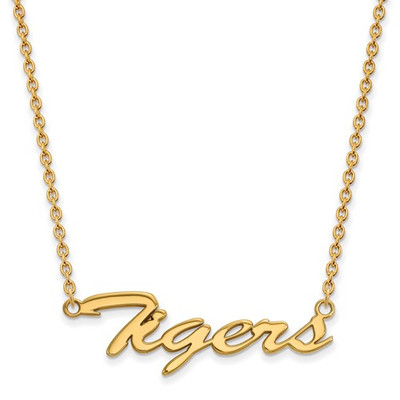 Clemson Tigers 14K Gold Script Necklace