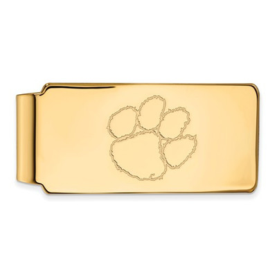 Clemson Tigers 14K Gold Tiger Paw Money Clip