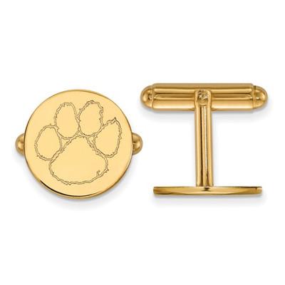 Clemson Tigers 14K Gold Tiger Paw Cufflinks