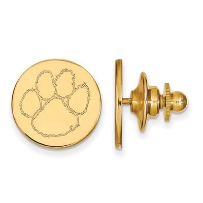 Clemson Tigers 14K Gold Tiger Paw Lapel Pin