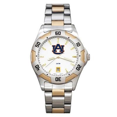 Auburn Tigers Men's All Pro Two Tone Watch