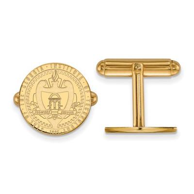 Georgia Tech Crest 14K Gold Yellow Jackets Cufflinks