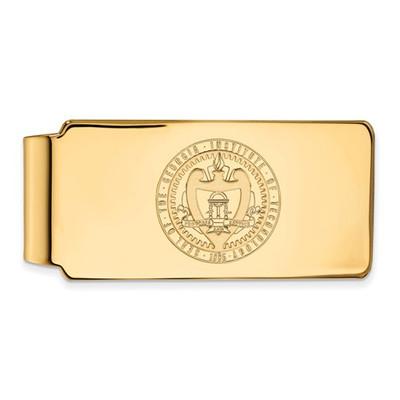 Georgia Tech Crest 14K Gold Yellow Jackets Money Clip