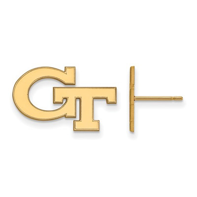 Georgia Tech GT Yellow Jackets 14K Gold Post Earrings