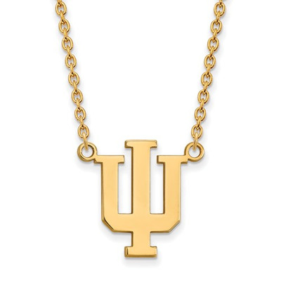 Indiana Hoosiers 14K Gold Pendant Necklace