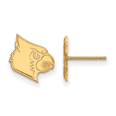 Louisville Cardinals 14K Gold Post Earrings