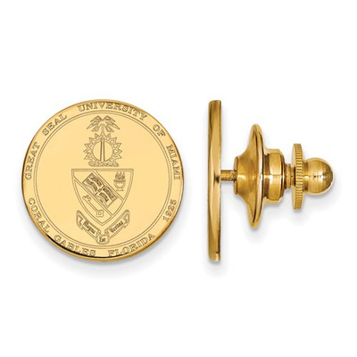 Miami Crest 14K Gold Hurricanes Lapel Pin