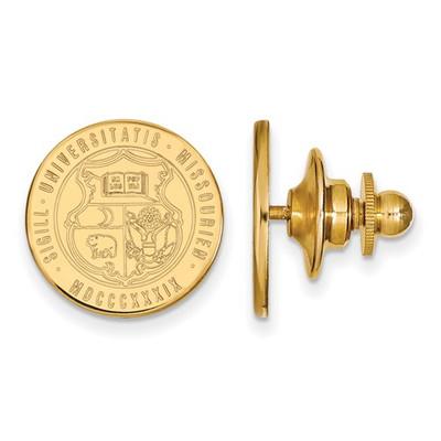 Missouri School Crest Tigers 14K Gold Lapel Pin