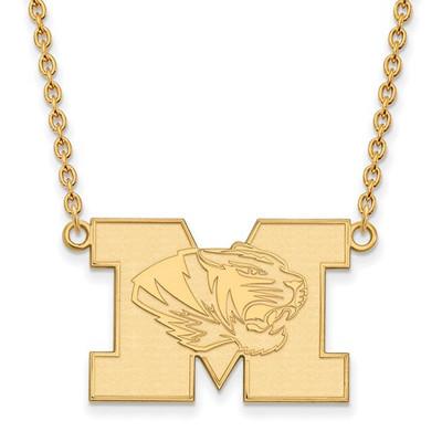 Missouri Tigers 14K Gold M Pendant Necklace
