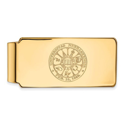 Nebraska Crest 14K Gold Huskers Money Clip