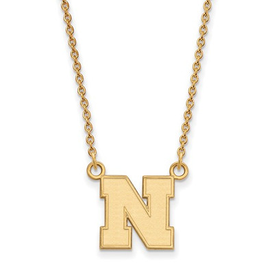 Nebraska Huskers 14K Gold N Pendant Necklace