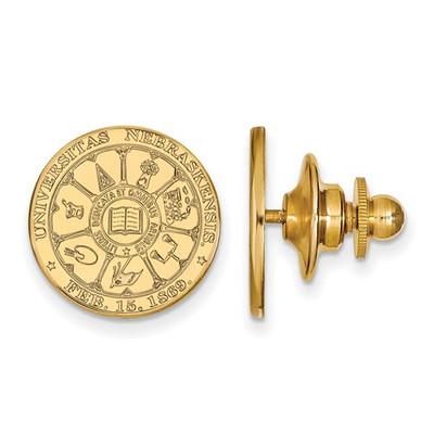 Nebraska Crest 14K Gold Huskers Lapel Pin