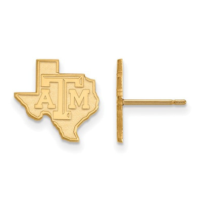 Texas A&M Aggies 14K Gold State Post Earrings