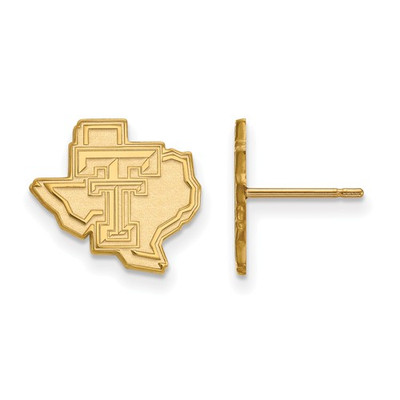 Texas Tech Red Raiders 14K Gold Post Earrings
