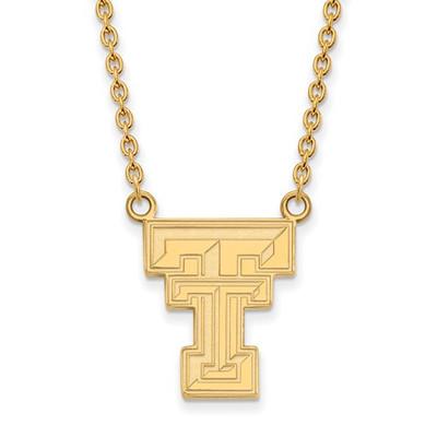 Texas Tech Red Raiders 14K Gold TT Pendant Necklace
