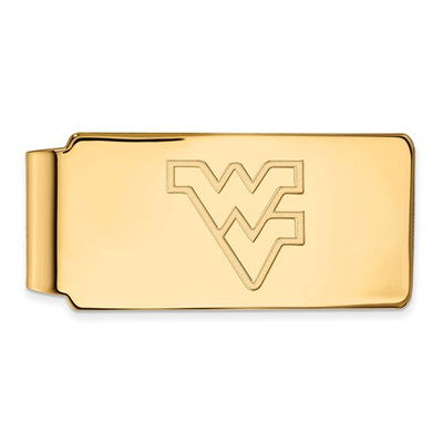 West Virginia Mountaineers 14K Gold WV Money Clip