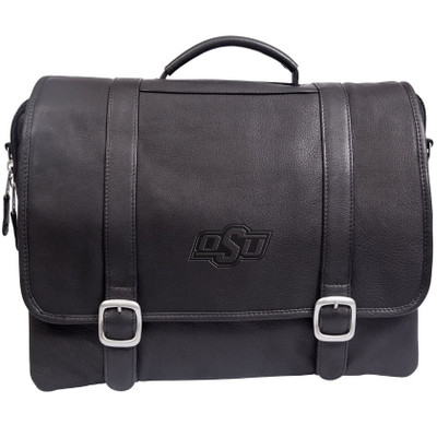 Oklahoma State Cowboys Cross Body Leather Laptop Briefcase