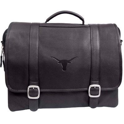 Texas Longhorns Cross Body Leather Laptop Briefcase