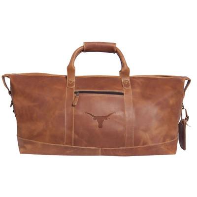 Texas Longhorns Leather Duffel Bag