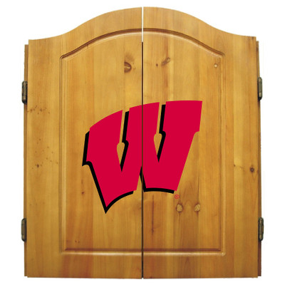 Wisconsin Badgers Dart Board Cabinet