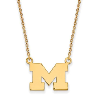 Michigan Wolverines 14K Gold Pendant Necklace