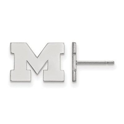 Michigan Wolverines Sterling Silver Post Earrings