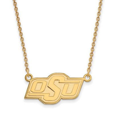 Oklahoma State Cowboys 14K Gold Pendant Necklace