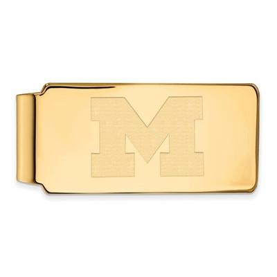 Michigan Wolverines 14K Gold Money Clip