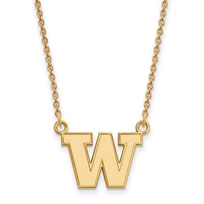 Washington Huskies 14K Gold Pendant Necklace
