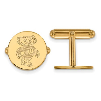 Wisconsin Badgers 14K Gold Cufflinks