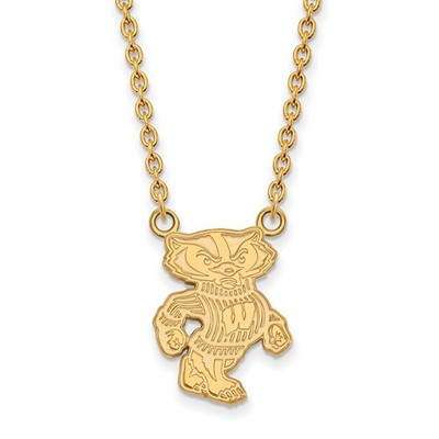 Wisconsin Badgers 14K Gold Necklace