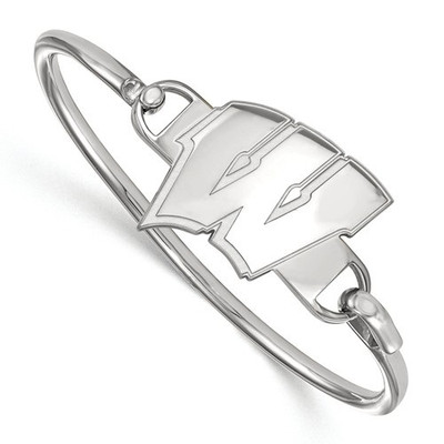 Wisconsin Badgers Sterling Silver Bangle Bracelet