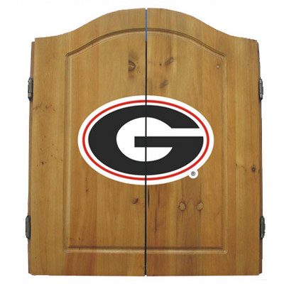 Georgia Bulldogs Dart Board Cabinet