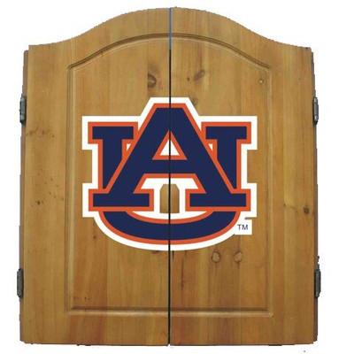 Auburn Tigers Dart Board Cabinet