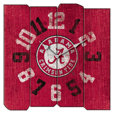 Alabama Crimson Tide Vintage Square Wall Clock