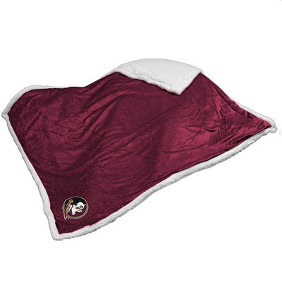 FSU Seminoles Embroidered Sherpa Throw Blanket