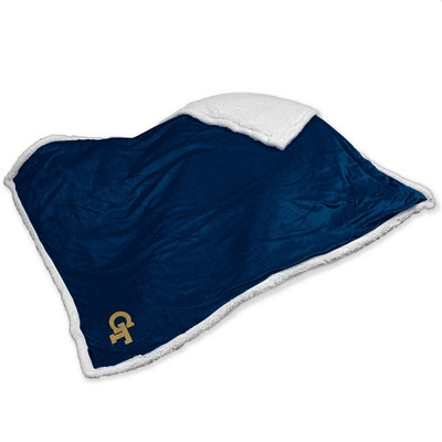 Georgia Tech Yellow Jackets Embroidered Sherpa Throw Blanket